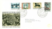 1975 Netherlands Kinderpostzegels Semi-Postal First Day Cover - FDC