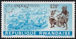 "! RWANDA - Scott #225 World Exhibition ""EXPO '67"" Montréal (*) / Mint NH Stamp - 1967 – Montreal (Kanada)"
