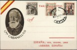 España 1937 Tarjeta Postal Patriótica. Gral. Cabanellas. Matasellos Málaga. See Desc. - 1931-Oggi: 2. Rep. - ... Juan Carlos I