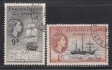 Falkland Island Dep. 1954-56 Cancelled, Sc# ,SG G34-G35 - Islas Malvinas