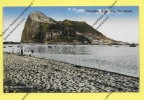 CPA GIBRALTAR The Rock From Spanish Beach (la Plage) TOP - Gibraltar