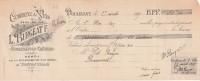 Lettre Change 27/4/1915 BURGEAT Vins Dépot Brasserie Tourtel à Tantonville DOULEVANT Le Château 52 Pour Brousseval - Cambiali