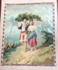 Superbe Chromo Grand Format 25 Par 20 Cm  Paul Et Virginie Bernardin De Saint-Pierre Effet Brillant 1880 - Kaufmanns- Und Zigarettenbilder