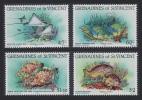 Grenadines Of St. Vincent Reef Fish 4v SG#287/90 SC#399-402 - St.Vincent Y Las Granadinas
