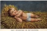 Andachtsbild - Das Jesuskind In Bethlehem Ind Der Krippe Ca 1930