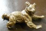 (17x8cm) Urso Em Bronze Ou Latão Maciço - Identifique - Bronzes