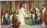 Andachtsbild - Das Letzte Abendmahl Ca 1950 - Religion &  Esoterik