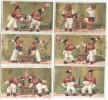 6 Chromos à Fonds Dorés/Les Deux Pompiers/Guérin Boutron/Vallet & Minot/Paris /Vers 1870-80    IMA158 - Guerin Boutron
