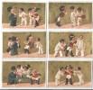 6 Chromos à Fonds Dorés/Pierrots - Juge Et Gendarme/GuérinBoutron/Vallet & Minot/Paris /Vers 1870-80    IMA161 - Guerin Boutron