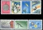 Belgium 1966 Science-Astronomy, Dinosaur Prehistoric Snowflake Space Museum Meteorology #664-70 - Belgium