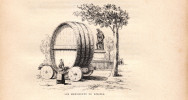 1896 - Gravure Sur Bois - Béziers (Hérault) - Les Monuments - FRANCO DE PORT - Unclassified
