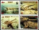 BANGLADESH, WWF, Crocodiles, Yvert 300/03** Neuf Sans Charniere. MNH - W.W.F.