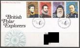 Great Britain. 1972 British Polar Explorers. FDC Philatelic Bureau, Edinburgh Cancel. - 1971-1980 Decimal Issues