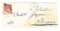 Heimat GR ENGADIN -  SAMADEN 28.7.185? 15Rp. Strubel Auf Brief Nach Bergün - Lettres & Documents