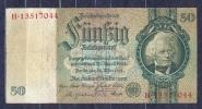 Germany - 1933 -50 Mark....A/H.. ..P182a,  R175b,, VF- - 50 Reichsmark