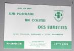 Buvard Rare Pharmacie Optique Lunettes Brouillet SAINT AFFRIQUE Rue République 12 - Produits Pharmaceutiques
