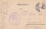 Feldpost WW1: Ersatz Landsturm Bataillon In Friedberg P/m Friedberg (Hessen) 12.10.1914 - Plain Postcard  (G68-31) - Militaria