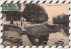 S424 MELUN ROUTE DE VAUX  AMBULANT PARIS A DIJON 1910 2 SCANS - Melun