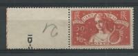 1935 - YVERT N° 308 * CHARNIERE LEGERE - COTE = 65 EUR. - BORD DE FEUILLE - Ungebraucht