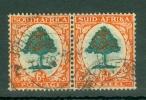 South Africa: 1933/48   Orange Tree    SG61    6d   Green & Vermilion  [Die I]     Used Pair - Gebraucht
