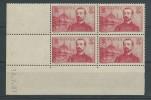 1937 - YVERT N°353 ** En BLOC De 4 COIN DATE - COTE = 53 Eur. - Dated Corners