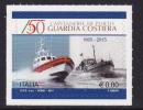 ITALY ,2015, MNH,SHIPS, BOATS, COAST GUARD, 1v, SELF-ADHESIVE - Barche