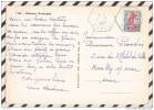 S465 AU DOS CP INTERIEUR AUVERGNAT CACHET HEXAGONAL VEZAC 1960 - Lettres & Documents