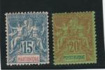 Martinique _15c &20c _ Groupe (1892 )