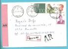 2136+2481+2457+2536 Op Brief Aangetekend Met AR Met Stempel QUEUE-DU-BOIS - 1981-1990 Velghe