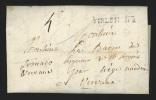 """Pr�philat�lie - lettre dat�e de Gossencourt 1787 marque Tirlemont + """"4"""" pour Vervox"""