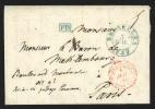 """Pr�philat�lie - lettre cachet � date BRUXELLES/1837 + """"PD"""" en bleu pour Paris"""