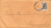 G)1887 PERU, DAMAGED COAT OF ARMS, CIRCULAR PASCO CANC., CIRCULATED COVER TO HUANCAVELICA, XF - Peru