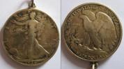 USA 1936 - RARA MONETA D'ARGENTO DA MEZZO DOLLARO DEL 1936  IN BUONE CONDIZIONI,  ADATTATA COME CIONDOLO - Federal Issues