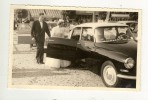 PHOTO MARIAGE A Bord D´une CITROËN DS Noir En JUILLET 1959, Derrière Le Restaurant L'Aigle D'Or - Automobili