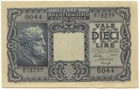 Lire 10 1944 Luogotenenza FDS - [ 1] …-1946 : Kingdom
