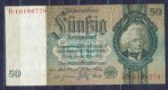 Germany - 1933 -50 Mark....A/K.. ..P182a,  R175b,..,XF+ - 50 Reichsmark