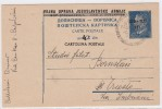 ITALY YUGOSLAVIA TRIESTE ZONA B STT VUJNA CARTE POSTALE DOPISNICA PIRAN - TRIESTE 1951 POSTAL CARD CARTOLINA POSTALE - Storia Postale