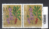 Schweiz, Zst. PJ 248, Mi. 1042 O Seidelbast Paar - Toxic Plants