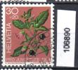 Schweiz, Zst. PJ 249, Mi. 1043 O Tollkirsche - Toxic Plants