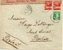 SUISSE LETTRE CENSUREE POUR LE BRESIL 1915 - Marcofilia