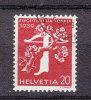 1939    N°  224 Z   OBLITERE       CATALOGUE ZUMSTEIN - Suisse