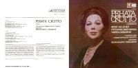Renata Scotto, Soprano. Arias From Operas By Puccini, Mascagni, Cilea, Catalani London Symphony Orchestra - Opera