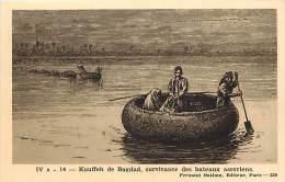 Pays Divers- Ref E396- Iraq-dessin Illustrateur -kouffeh De Bagdad , Survivance Des Bateaux Assyriens   -carte Bon Etat- - Iraq