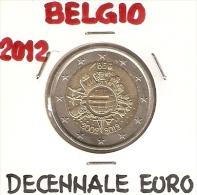 *BELGIO - 2 Euro Commemorativo 2012 - DECENNALE DELL'EURO - Belgio