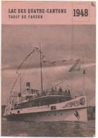 Publicité. Horaire Des Trains & Bateaux. 1948. Suisse. Lac Des Quatre-Cantons. Lucerne/Luzern. - Europe