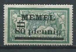 Allemagne - Memel - 1920 - Michel  63 - Neuf * - Klaipeda