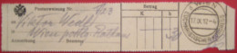1010 Wien Eucharistischer Kongress - Aufgabeschein Von Postanweisung 1912 - Affrancature Meccaniche Rosse (EMA)