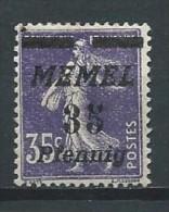 Allemagne - Plébiscite - Memel -1922 -  Michel 64 - Neuf ** - Germany
