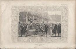Gravure/Histoire DeFrance  D´Anquetil Et Gallois/Page 75/Camille DESMOULINS/1789/Début 19éme     GRAV75 - Gravados