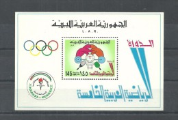 1976 – Libya- The 5th Pan Arab Games, Damascus- Tennis Ping Pong – Basketball – Weightlifing- MS MNH - Libye